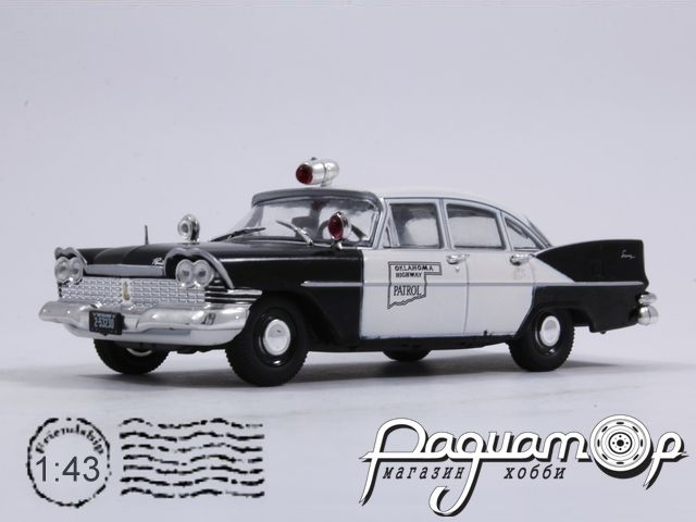 Полицейские машины мира №21, Plymouth Savoy Дорожная Полиция штата Оклахома (1955)
