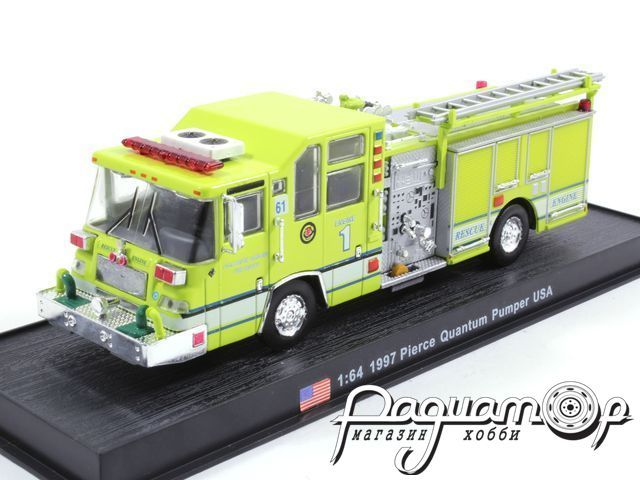 Pierce Quantum Pumper USA пожарная (1997) KWS007