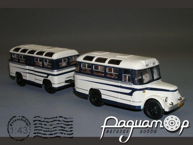 ПАЗ-671А с пассажирским прицепом ПАЗ-750 (1958) V4-19.3+V3-12.3