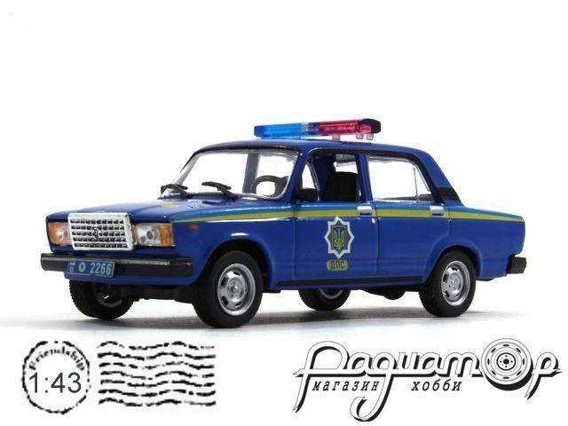 Полицейские машины мира №29, ВАЗ-2107 Милиция Украины (1995)