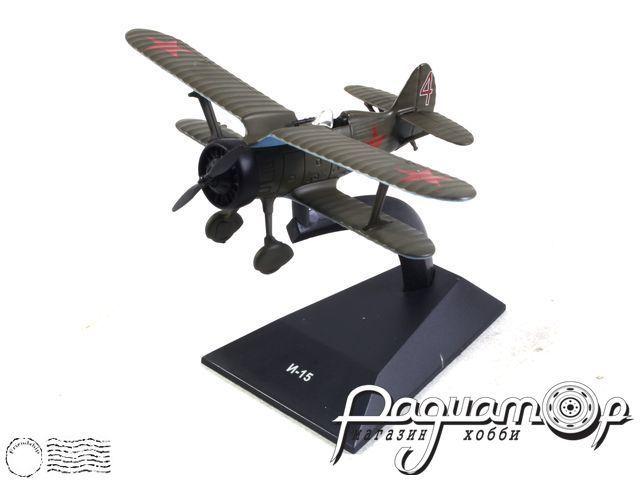 Легендарные самолеты №80, И-15 (1930) 1:100