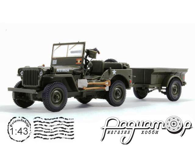 Jeep Willys MB с прицепом и пулеметом (1958) 6690001