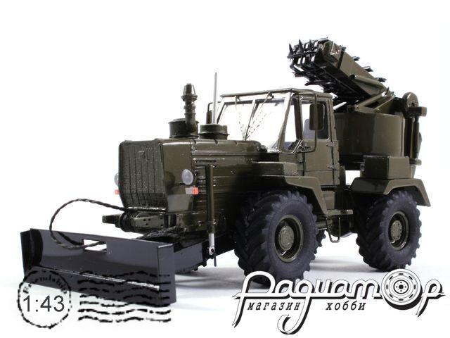 Трактор Т-155 ПЗМ-2 полковая землеройная машина (1980) NRG1011