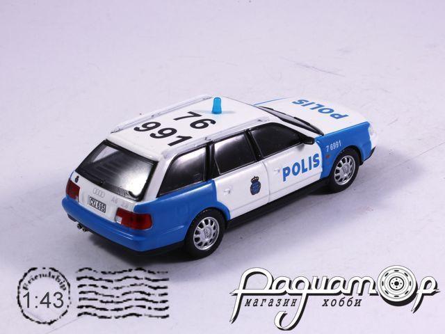 Полицейские машины мира №38, Audi A6 Аvant Полиция Швеции (1994)