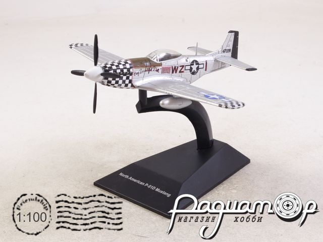 Легендарные самолеты №99, P-51 Mustang (1942) 1:100