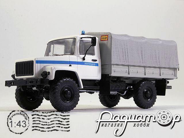 ГАЗ-3308 4х4 (двигатель ЗМЗ-513) бортовой с тентом, Милиция (1997) SSM1154