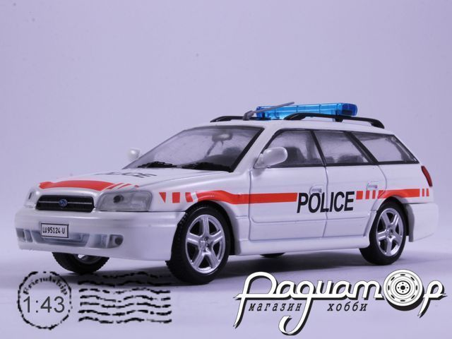 Полицейские машины мира №58, Subaru Legacy Полиция Швейцарии (1989)