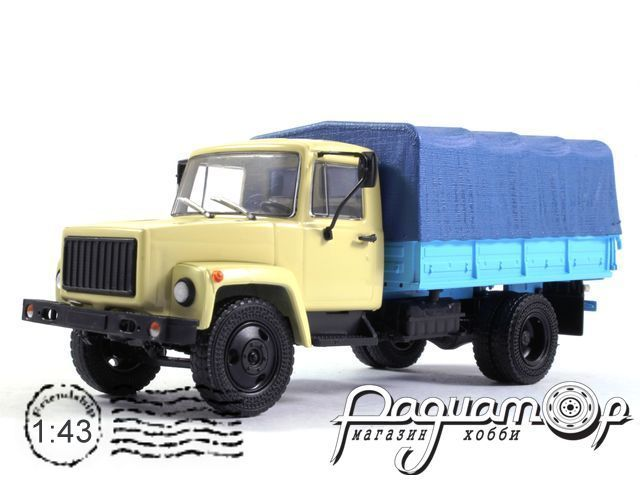 ГАЗ-33073 (двиг. ЗМЗ-513) Грузовое такси, с тентом (1989) 100343-W