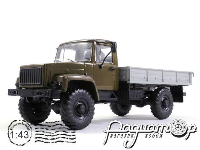 ГАЗ-3308 4х4 (двигатель ЗМЗ-513) бортовой (1997) 100329-M