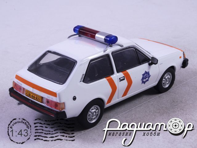 Полицейские машины мира №62, Volvo 343 Полиция Голландии (1976)