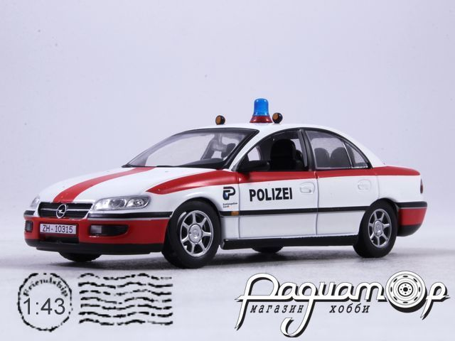 Полицейские машины мира №61, Opel Omega Switzerland Полиция Швейцарии (1996)
