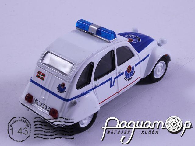 Полицейские машины мира №64, Citroen 2CV Ertzaintza Полиция Испании (1968)